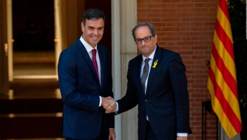 Diálogo sin negociaciones en reunión de Pedro Sánchez y Quim Torra