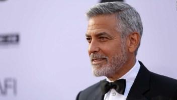 George Clooney resultó herido en un accidente en Italia