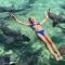 Tiburón muerde a modelo de Instagram en las Bahamas