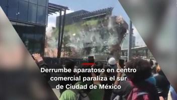 #MinutoCNN: Videos muestran derrumbe de centro comercial en México