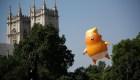 """""""Baby Trump"""" sobrevuela el cielo londinense"""