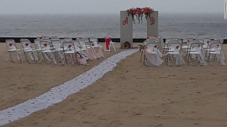 La localización original de la boda de González.