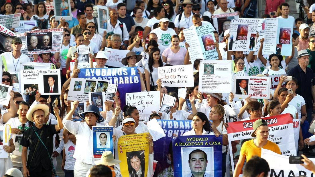 Multitudinaria manifestación en contra de la violencia en México en mayo de 2018. (Crédito: ULISES RUIZ/AFP/Getty Images)