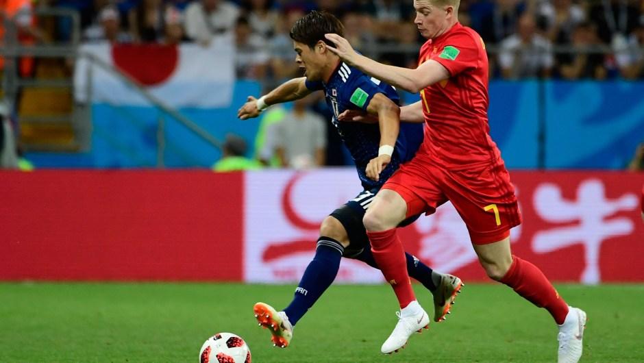 El ganador del partido entre Bélgica y Japón se enfrentará a Brasil en cuartos de final. (Crédito: PIERRE-PHILIPPE MARCOU/AFP/Getty Images)