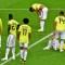 Desolación en el equipo de Colombia tras no lograr el pase a cuartos de final al perder en penales contra Inglaterra. (Crédito: MLADEN ANTONOV/AFP/Getty Images)