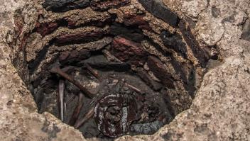 Los restos de un niño de unos cinco años fueron depositados como ofrenda a Huitzilopochtli, dios de la guerra, en el Templo Mayor de Ciudad de México.