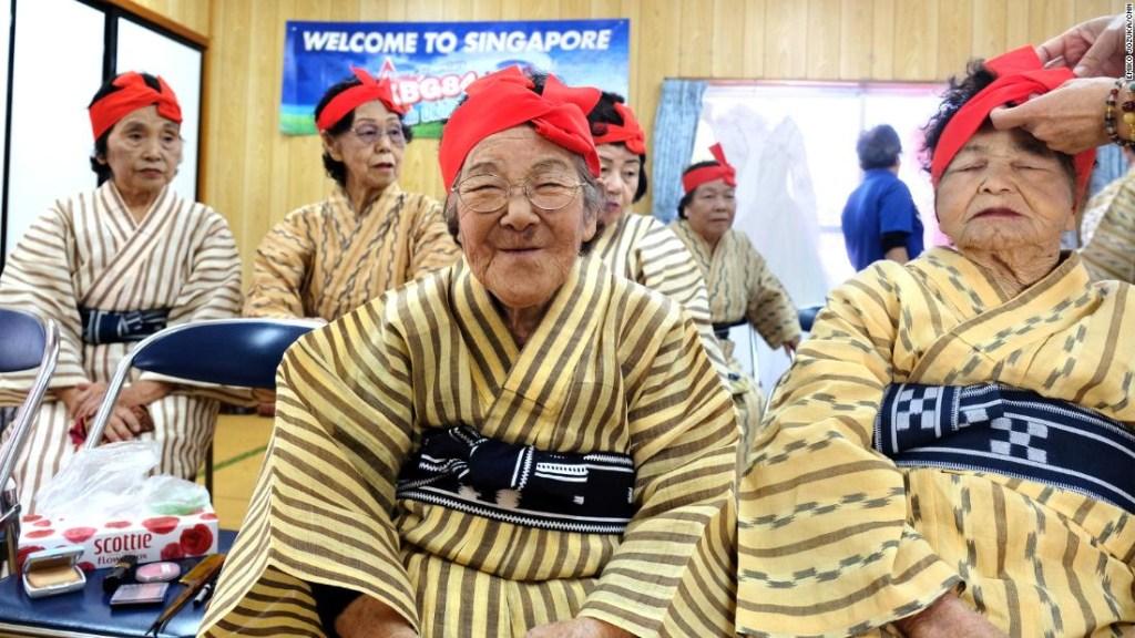 En Japón cada vez hay más personas con 100 o más años.