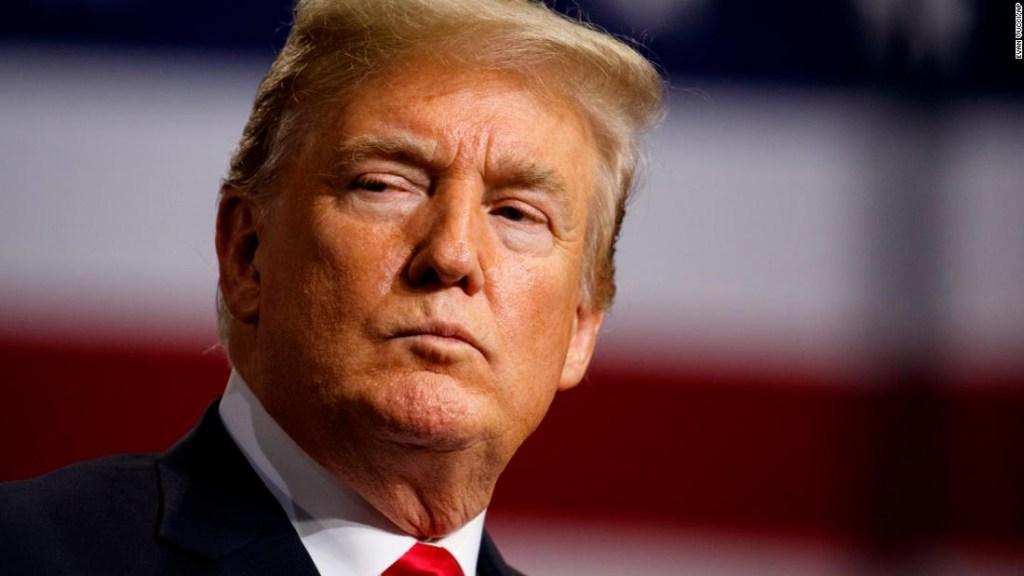 El presidente Trump en un mitin en la Florida el 31 de julio. (Crédito: AP Photo/Evan Vucci)