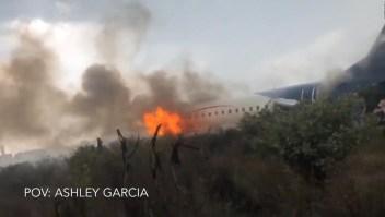 Así fue el terror del desplome del avión en México