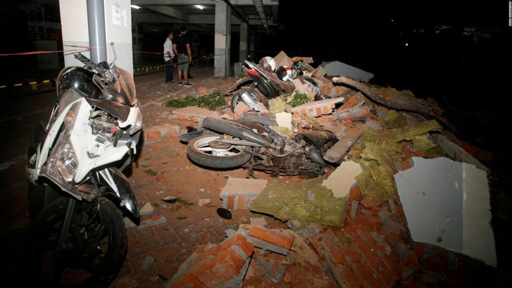Así se vivió el terremoto en Indonesia