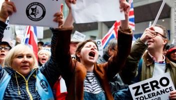 Manifestantes contra el antisemitismo en el Partido Laborista británico. (Crédito: David Cliff/SOPA Images/LightRocket via Getty Images)