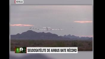 Pseudosatélite de Airbus rompe récord de vuelo