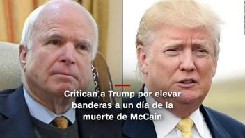 #MinutoCNN: Trump ordena bajar banderas otra vez por McCain