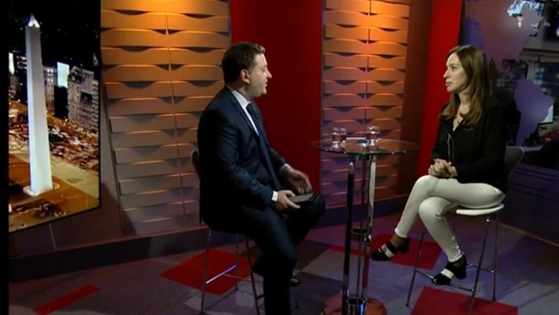 María Eugenia Vidal habla a la clase media en medio de la situación económica en Argentina