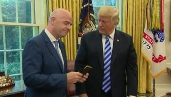 La FIFA visita la Casa Blanca y Trump saca tarjeta roja