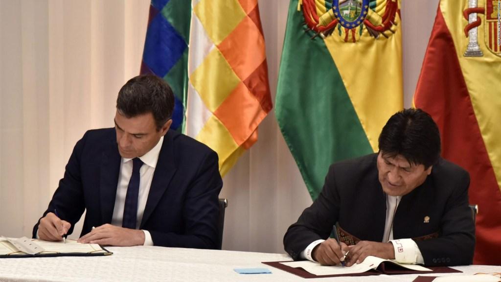 Sánchez habló en Bolivia de construcción de corredor ferroviario