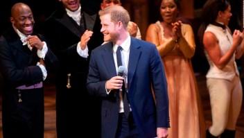 El príncipe Enrique se ganó una ovación por cantar una parte del musical 'Hamilton'