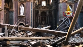 Se derrumba techo de antigua Iglesia en Roma