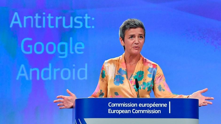 Margrethe Vestager, comisaria europea de Competencia. (Crédito: JOHN THYS/AFP/Getty Images)