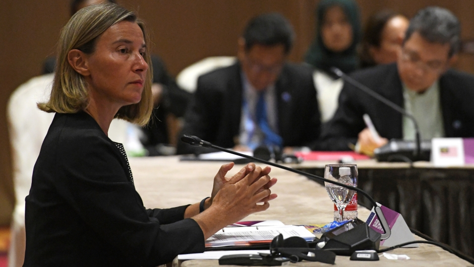 Federica Mogherini, alta representante de la Unión Europea para Asuntos Exteriores y Política de Seguridad. (Crédito: ROSLAN RAHMAN/AFP/Getty Images)