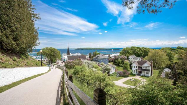 Isla Mackinac, en Michigan, Estados Unidos