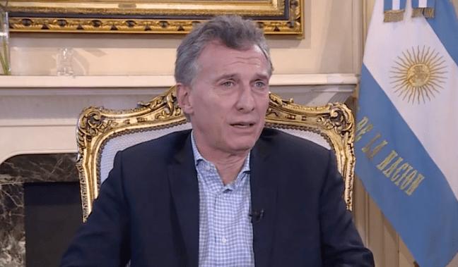 El presidente de Argentina, Mauricio Macri, durante su entrevista con CNN en Español.