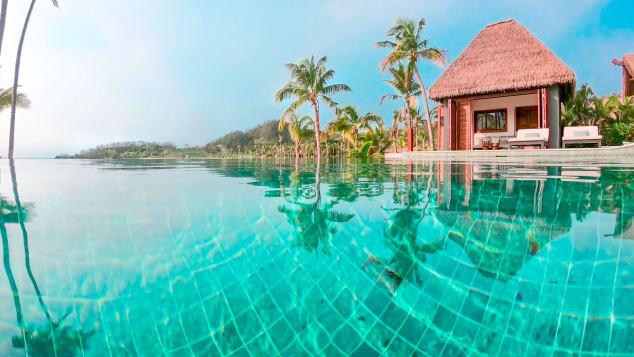 La marca Six Senses quedó en tercer lugar. Es conocida por sus centros turísticos opulentos, como Six Senses Fiji, en la foto.