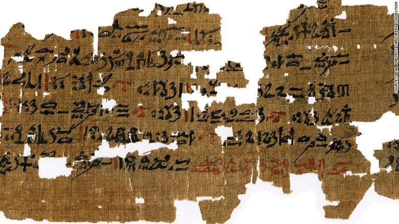 Este papiro, de 1500-1400 a.C., contiene remedios para enfermedades oculares