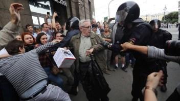 Según los informes, la mayor cantidad de detenciones en protestas en Rusia se produjo en San Petersburgo.