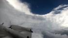 Un avión cazatormentas voló en el ojo del huracán Florence