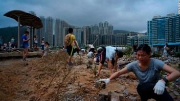 Hong Kong, Monday, Sept. 17, 2018. (AP Photo/Vincent Yu)