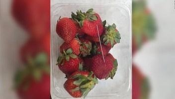 Contaminación de fresas con agujas se extiende a Nueva Zelandia