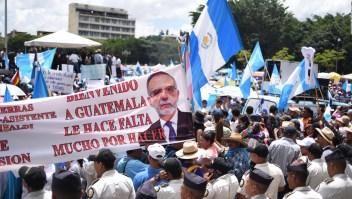 Protestas en Guatemala a favor de la CICIG