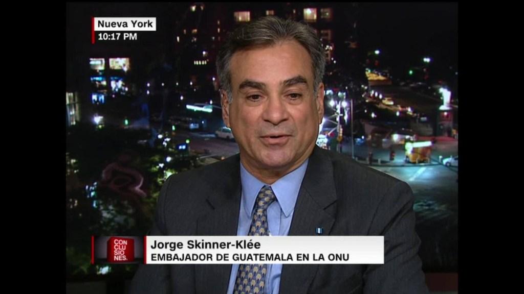 """Jorge Skinner-Klée: """"El acuerdo de la Cicig lo negocié yo, así que no tiene que explicármelo"""""""