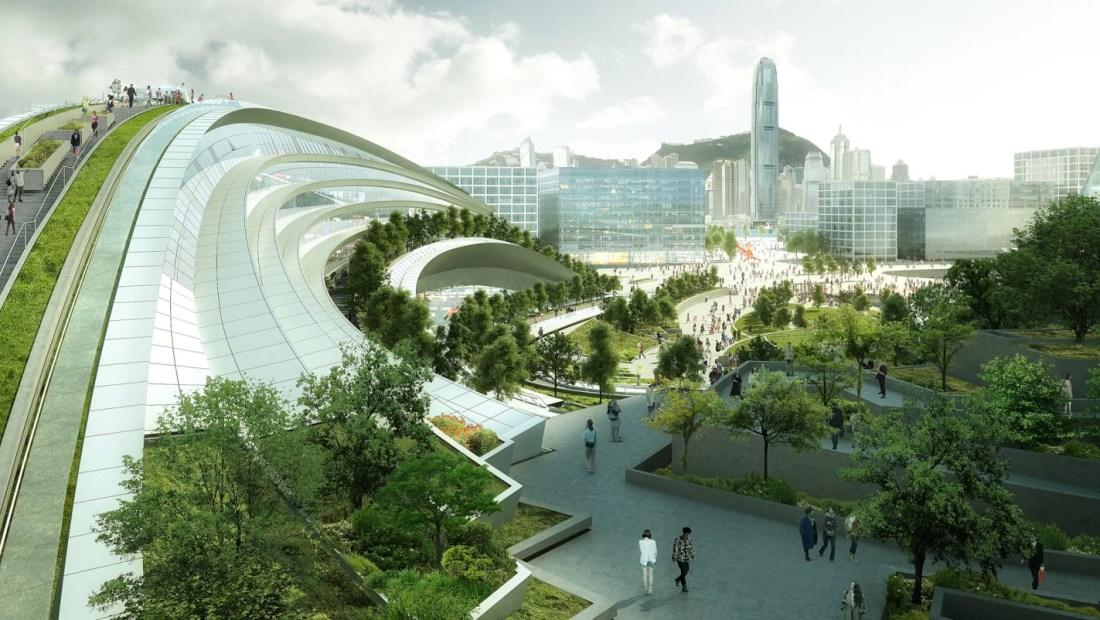 Polémica estación de alta velocidad en Hong Kong (Crédito: Cortesía de Aedas)