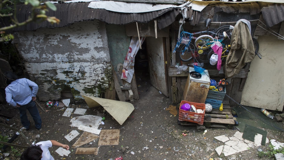 Casa familiar en una zona pobre de Ciudad de México en 2012. (Crédito: OMAR TORRES/AFP/GettyImages)