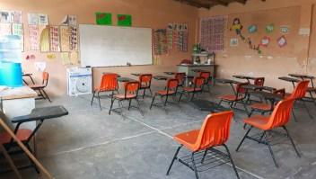 Una clase vacía en el estado de Guerrero. (Crédito: SERGIO OCAMPO/AFP/Getty Images)