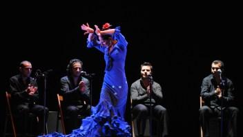 La 'bailaora' Mercedes Ruiz durante una actuación en 2008. (Crédito: PIERRE-PHILIPPE MARCOU/AFP/Getty Images)
