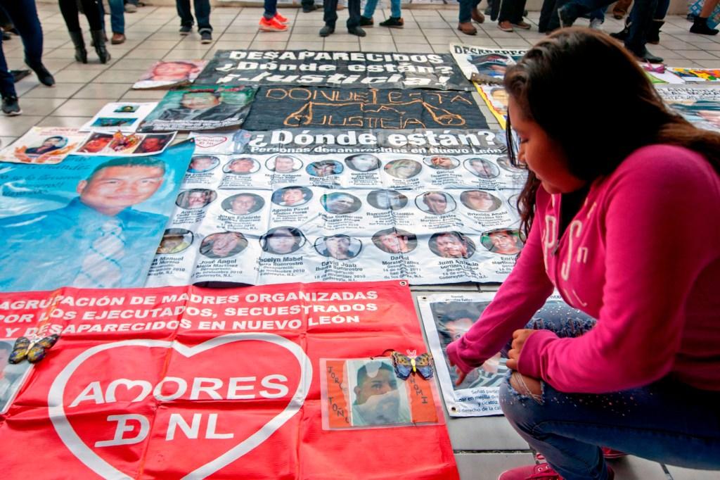 Manifestación en contra de desapariciones y secuestros en México. (Crédito: JULIO CESAR AGUILAR/AFP/Getty Images)