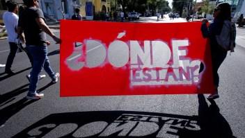 Protesta en contra de las desapariciones forzosas en México. (Crédito: ULISES RUIZ/AFP/Getty Images)