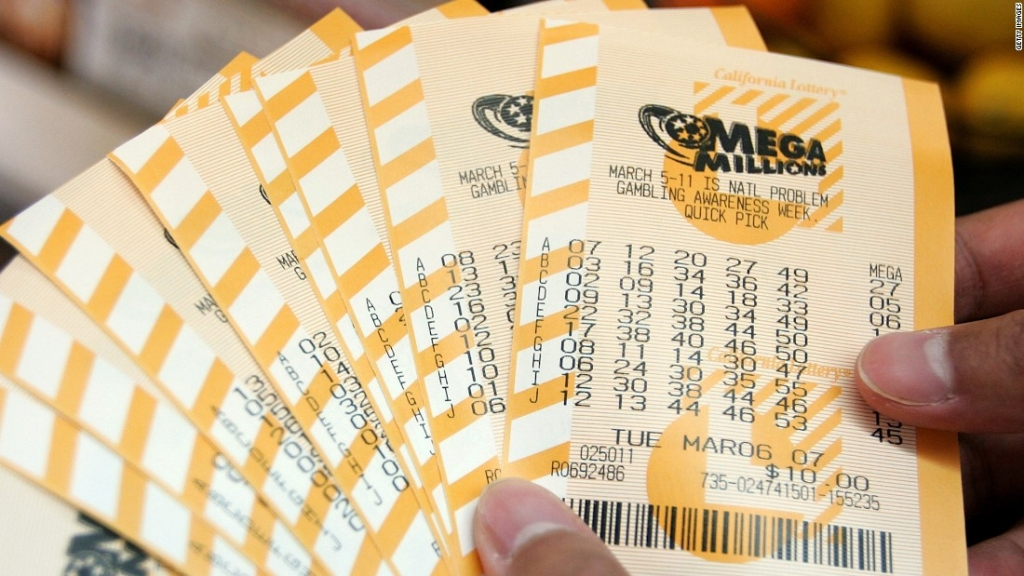 Boletos del sorteo de Mega Millions.