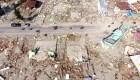 Un dron capta la magnitud de la devastación en Indonesia