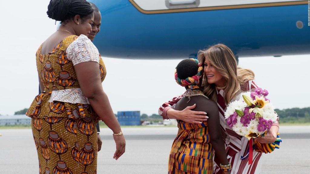 Melania Trump está de visita diplomática y humanitaria en África