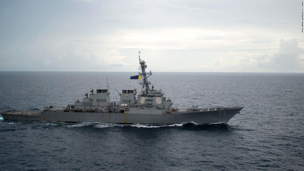 USS Decatur (DDG 73) opera en el mar de China. (Crédito: (U.S. Navy foto por Petty Officer 2nd Class Diana Quinlan/Released)