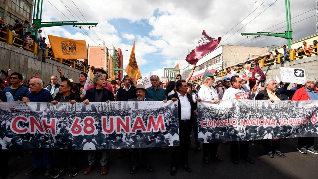 A 50 años, los mexicanos no olvidan la masacre del 68