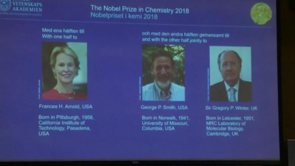 Anuncian a los ganadores del Premio Nobel de Química
