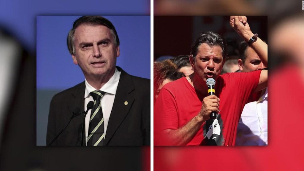 #MinutoCNN: Bolsonaro y Haddad van a segunda vuelta en Brasil