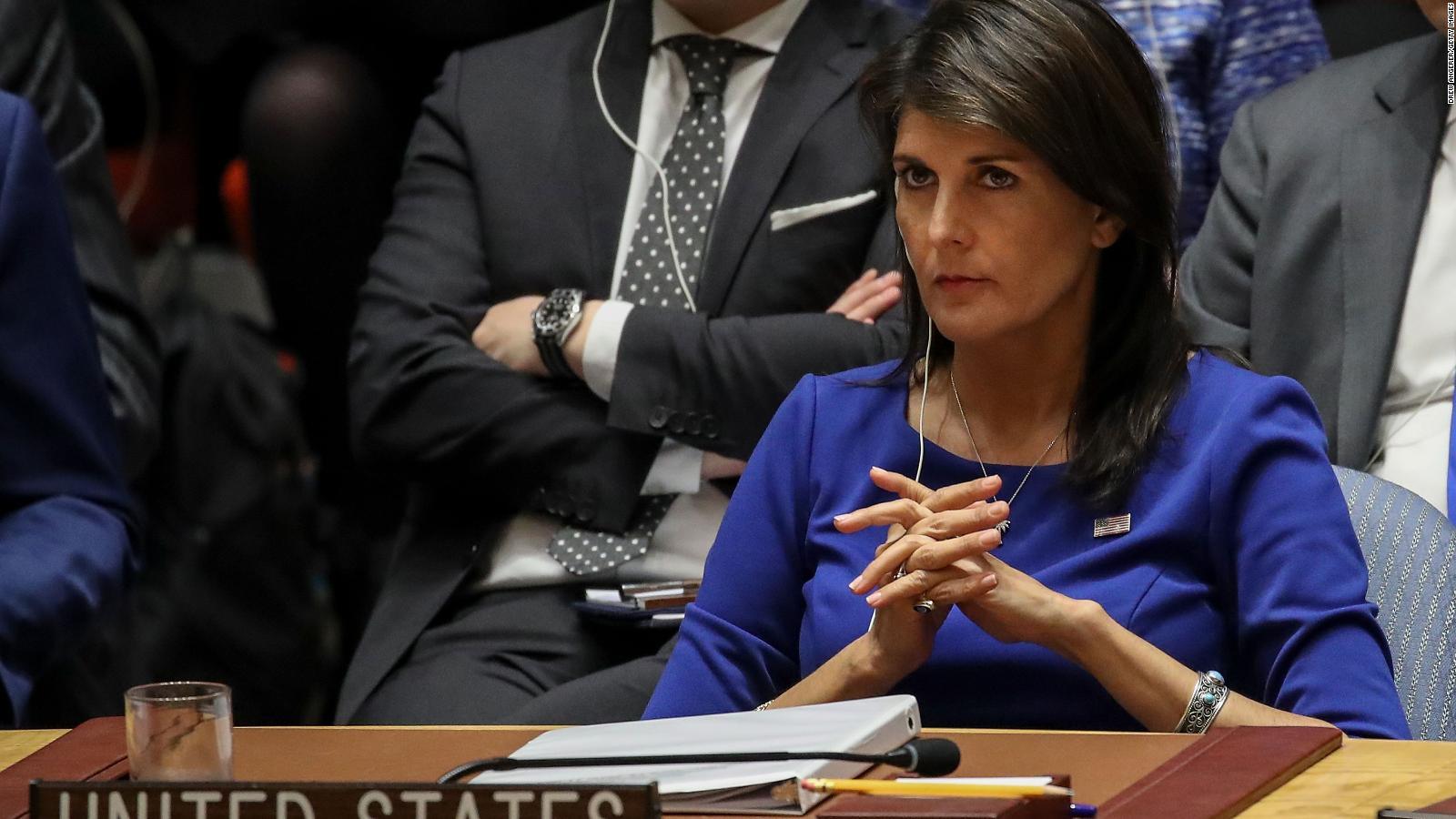 ¿Quién reemplazará a Nikki Haley en la ONU?