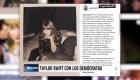 Taylor Swift estimula el voto demócrata en elecciones intermedias