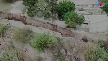 Un barranco se desmorona en Argentina